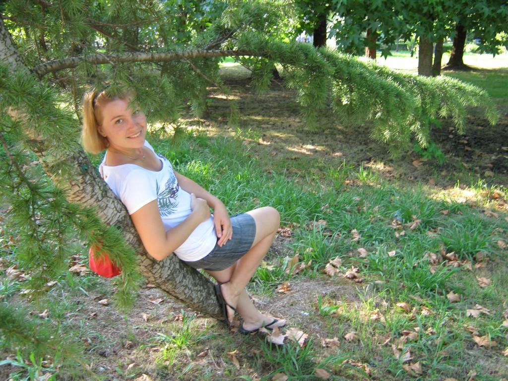 Лилия в парке